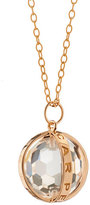 Monica Rich Kosann 18K Rose Gold Carpe Diem XL Rock Crystal Necklace