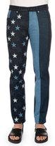 Givenchy Multi Stars & Stripes Printed Denim Jeans, Black