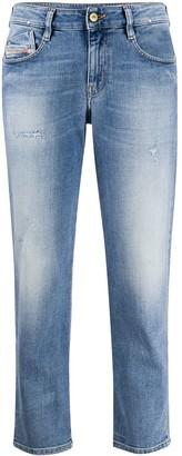 Diesel Distressed Straight-Leg Jeans