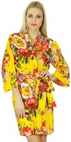 Bimba Women Bridesmaid Robe Floral Short Cotton Getting Ready Robes