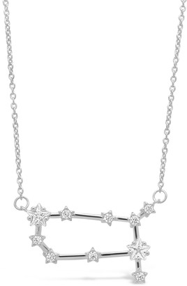 Sterling Forever Delicate Constellation CZ Gemini Zodiac Pendant Necklace