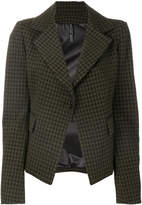 Plein Sud Jeans dogtooth fitted blazer