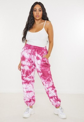 Missguided Size Raspberry Tie Dye 90s Oversized Joggers