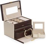 Bey-Berk Leather 4-Level Jewelry Box