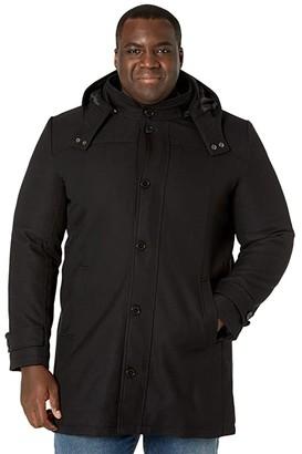 Johnny Bigg Big Tall Wales Hood Coat (Black) Men's Clothing