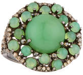 Bavna Chrysoprase & Diamond Ring, Size 7