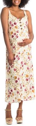 Everly Grey Savannah Maternity/Nursing Midi Sundress