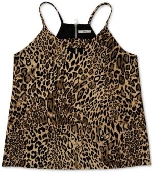 Bar III Zip Back Cheetah-Printed Camisole, Created for Macy's