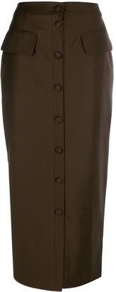 MATÉRIEL Buttoned Pencil Skirt