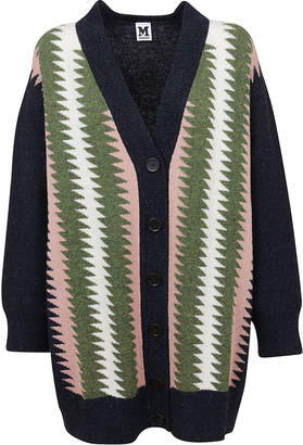 M Missoni Multicolor Wool Cardigan, Front Button Closure.