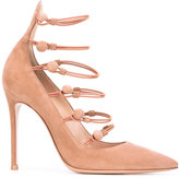 Gianvito Rossi Marquis pumps - women - Calf Leather/Leather/Polyester - 35