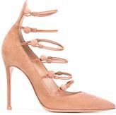 Gianvito Rossi stiletto pumps - women - Calf Leather/Leather/Polyester - 35