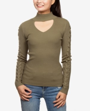 Hippie Rose Juniors' Choker Sweater