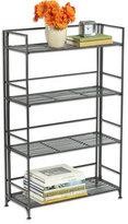 Container Store 4-Shelf Iron Folding Bookcase