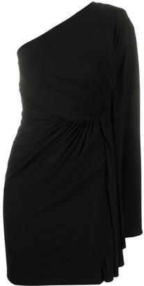 Alexandre Vauthier One-Shoulder Draped Cocktail Dress