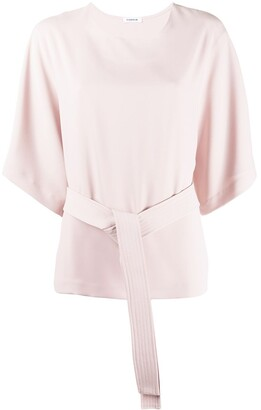 P.A.R.O.S.H. Belted Plain Blouse