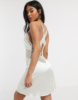 Calvin Klein Black Spring Rose bridal chemise in ivory