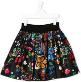 Simonetta floral print skirt