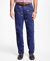 Brooks Brothers Clark Fit Embroidered Nautical Knot Pants
