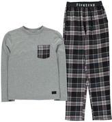 Firetrap Long Sleeve Pyjama Set Junior Boys