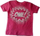 "Custom Kingdom Baby Girls' ""One"" Superhero First Birthday T-Shirt"