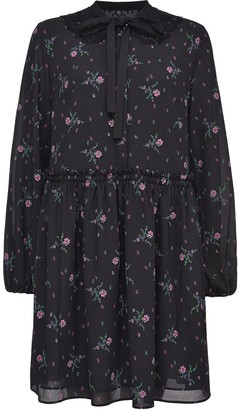 Pinko Floral-Print Flared Dress