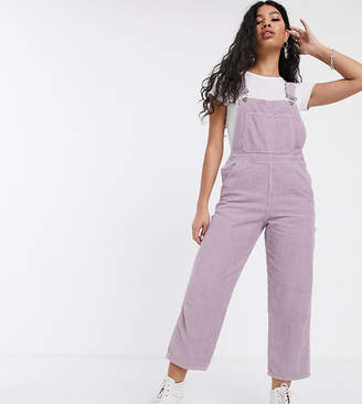 Reclaimed Vintage inspired dungaree in lilac cord-Purple