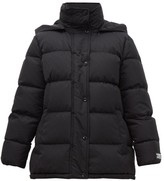 Burberry Logo-jacquard Quilted Hooded Jacket - Womens - Black