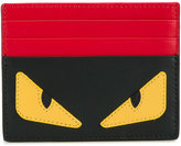 Fendi monster eyes leather card holder - unisex - Leather - One Size