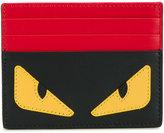 Fendi monster eyes leather card holder