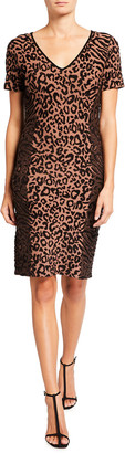 Milly Cheetah Print Fitted Dress