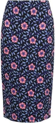 Diane von Furstenberg Floral-print Crepe Pencil Skirt
