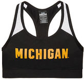 PINK University Of Michigan Ultimate Racerback Sports Bra