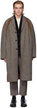 Deveaux New York Tan Check Colorblock Coat