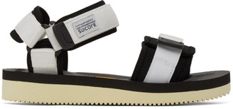 Suicoke Black and White Cel-V Sandals
