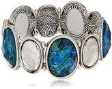 """The Sak Winter Eclipse"""" Set Stone Stretch Bracelet"""