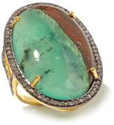Rarities: Fine Jewelry with Carol Brodie Chrysoprase and Champagne Diamond Vermeil Ring