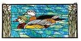 Meyda Tiffany 77712 35 Inch W X 16 Inch H Wood Ducks Window