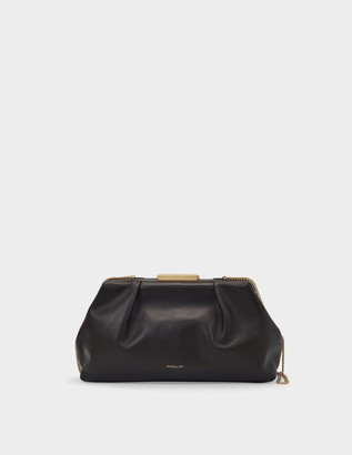 DeMellier Clutch Florence In Brown Leather