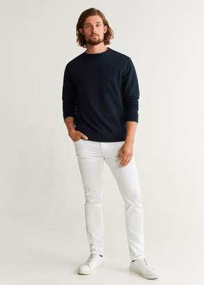 MANGO MAN - Basic cotton sweater khaki - XS - Men