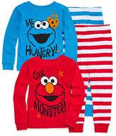 Sesame Street 4-pc. Elmo Pajama Set Boys- Toddler