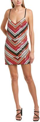 Karina Grimaldi Sasha Silk-Blend Mini Dress