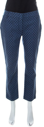 Dolce & Gabbana Indigo Polka Dot Denim Capri Jeans M
