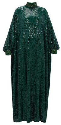 Ashish Sheela Embellished Sequinned-georgette Tent Dress - Green