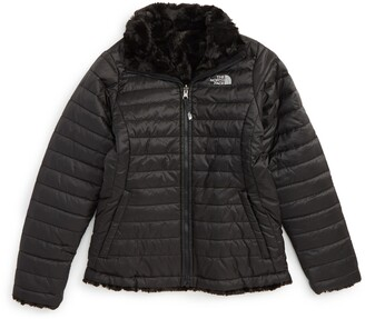 The North Face Kids' 'Mossbud Swirl' Reversible Water Repellent Jacket