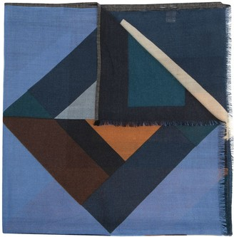 Altea Geometric-Pattern Wool Scarf
