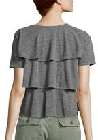 Amo Tiered Ruffle Cotton Tee