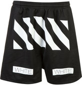 Off-White Auction House perforated track shorts