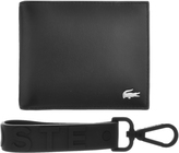 Lacoste Keyring And Wallet Set Black