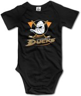 Enlove Anaheim Ducks BABY Funny Short Sleeves Variety Baby Onesies Jumpsuit For Little Kids Size 6 M